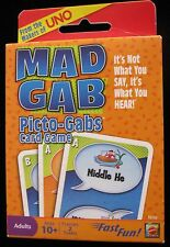 FROM THE MAKERS OF UNO MAD GAB PICTO-GABS CARD GAME BRAND NEW! 2009 EDITION
