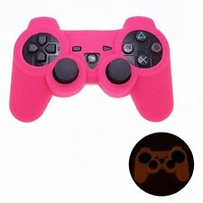 PINK GLOW in DARK Playstation 3 PS3 Wireless Game Controller Anti-Slip New