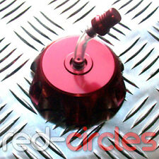 RED ALLOY PIT DIRT BIKE FUEL TANK PETROL CAP 50cc 110cc 125cc 140cc PITBIKE