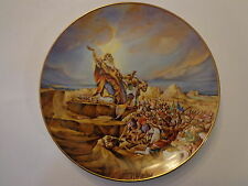 Promised Land Battle of Amalek Yiannis Koutsis Bible Plate Royal Cornwall #3000