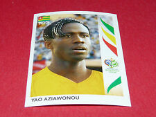 521 YAO AZIAWONOU TOGO PANINI FOOTBALL GERMANY 2006 WM FIFA WORLD