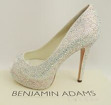 Benjamin Adams Tyra Crystal Heels Wedding Bridal Sandals UK7 40