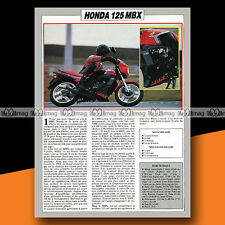 ★ HONDA 125 MB X (MBX) ★ 1984 Essai Moto / Original Road Test #a655
