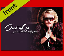 KEITH LEMON Out of 10 BIRTHDAY CARD Top Quality Repro Autograph Signed A5