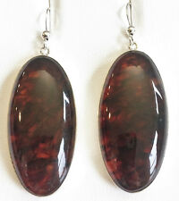 JAY KING Large Amber Earrings, Sterling Silver MINE FINDS