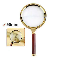90mm 10X Handheld Jewelry Classic Magnifier Magnifying Glass Loop Loupe Reading