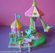 Polly Pocket Mini ♥ Flugzeug Karussell ♥ Rocket Ride ♥ 100 % Komplett ♥ 1996 ♥