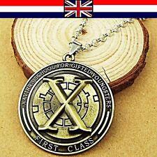 Antique Gold Vintage Movie Unisex Replica X-men Pendant Chain Necklace UK Seller