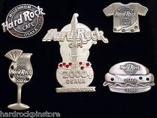 Osaka 5 Pin Jewel Set LE 100 SILVER MILLENNIUM GUITAR 2000 Hard Rock Cafe Tokyo