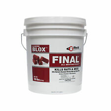 Final Blox Rodenticide 18 lb Pail Rat Mouse Mice Rodent Bait Norway & Roof Rat