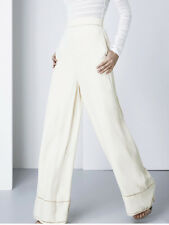 Finders Keepers Unravel Cream Ivory High Waist Wide Leg Palazzo Pant Trouser 6 8