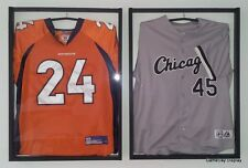 Jersey Display Case and Hanger Lot of 2 White Backing Color Football Soccer B