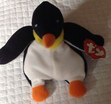 Rare TY TEENIE BEANIE BABIES Waddle the Penguin Plush 1993 Retired tags