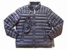 New Tommy Hilfiger Nylon Navy Lightweight Packable Feather Down Jacket sz XXL