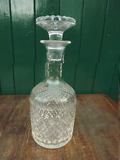 Super old Vintage cut Glass Decanter Lovely cut and pattern No markings