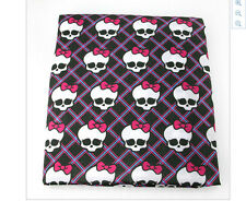 Monster High Fabric Poly Cotton 1m x 1.47m