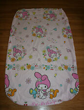 My Melody Sanrio Hellow Kitty Twin Star Bedding Fitted Sheet 2 Pillowcases EUC