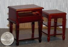 Dollhouse Miniature Mahogany Computer Stand  Desk 1:12  one inch scale  F22