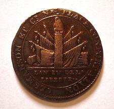 MONNAIE DE CONFIANCE. 2 SOLS DE CLEMANSON AU FAISCEAU AN IV. 1792. LYON. RARE.