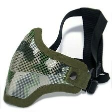 TMC V5 Strike Mesh Half Face Mask Green Camo