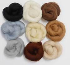 Felting Wools -Merino Wool Tops - NEUTRAL TONES