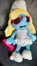 "Large SMURF SMURFETTE Stuffed Animal 20"" Plush Toy w/accs"
