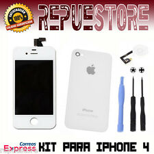 Kit Completo Pantalla Completa LCD para iPhone 4 Retina Blanco Blanca Screen