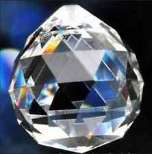 5Pcs Clear Chandelier Crystal Ball Lamp Prisms Parts Suncatcher Pendants 30mm