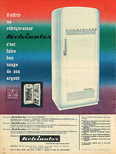 PUBLICITE ADVERTISING 084  1958  KELVINATOR   réfrigérateur