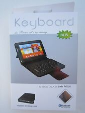 Bluetooth Keyboard Leather Case / Stand for Samsung Galaxy Tab Tablet PC P6200