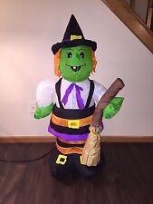 Vintage Halloween 2004 Gemmy 4 Foot Tall Scarecrow Witch Airblown/Inflatable