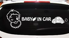 Graphic Design Decal Wall Decoration Sticker - Baby in a car