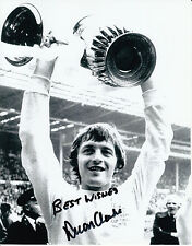 Allan Clarke Leeds United Hand Signed Photo 10x8.