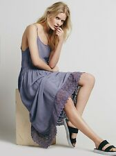Free People Women's Easy Breezy Crochet Purple Dress - Size S/P - C525