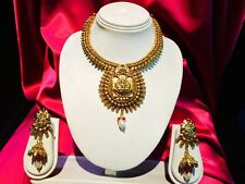 Bollywood Indian Bridal Necklace Earrings Jewellery Party Antique Gold Tone #B6