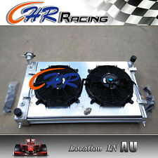 Aluminum Radiator + shroud +fan for Holden Commodore VY V6 2002 2003 2004 Manual