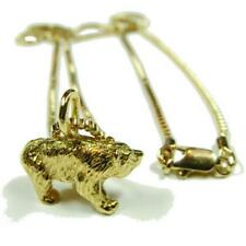 Gay Mens 3D Bear Pendant and Chain