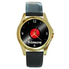 VINYL RECORD RETRO PERSONALISED WRISTWATCH**GREAT GIFT ITEM***