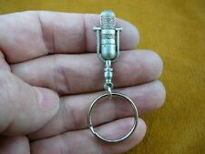 (M-5-D) RCA 77D/DX Microphone Mic keychain KEY CHAIN pewter I love mics