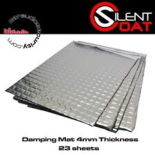 Silent Coat - Extra 4mm Sound Damping Bulk Pack 23 Sheets 375 x 265 mm