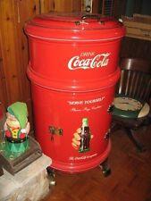 Antique Coca Cola Round Ice Soda Box Cooler Professionally Restored White Frost