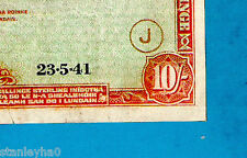 "EX RARE Type 4 War Code ""J"" Irish Emergency Tracer Overprint Codes 10s 23.5.1941"