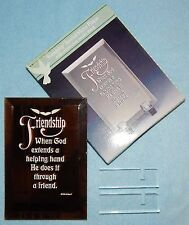 "Friendship - Beveled Mirror Magnet with stand {6"" x 4""} - New"