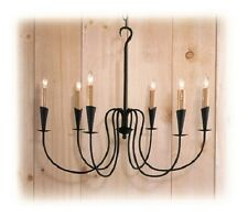 Colonial Primitive Country Lighting wrought iron style metal chandelier C418-6