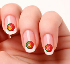 20 Nail Art Decals Transfers Stickers #683 - World Cup Portugal flag icon
