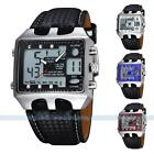 Ohsen Black Alarm Analog Digital Men's Waterproof Quartz Sport Wrist Watch New