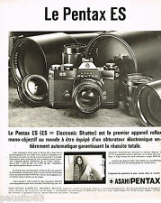 PUBLICITE ADVERTISING 055  1973  ASAHI PENTAX  appareil photo ES