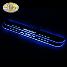 Sncn LED Moving Welcome Door Sill Scuff Plate for Hyundai Accent 2012-2013