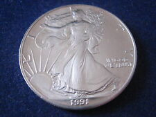 "MDS USA ONE DOLLAR 1991 ""LIBERTY - AMERICAN SILVER EAGLE"", 1 UNZE SILBER   #1"