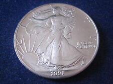 "MDS USA ONE DOLLAR 1991 ""LIBERTY - AMERICAN SILVER EAGLE"", 1 UNZE SILBER   #1"